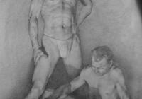 Гладков Николай. Учебный  рисунок. 1951г. Бум., кар.