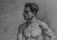 Валерий Волков. Учебный рисунок. Бум.,кар.