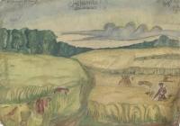 8. Мурьянов. Жнитво. 1924г