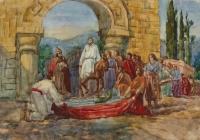 133.Моргун Слава. Христос в Иерусалиме. 16 лет 4кл преподаватель Колесников В.Г. 1996