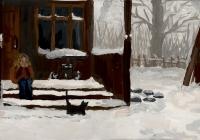 143.Молостова Света. Первый снег. 13 лет 1кл преподаватель Колесников В.Г. 2014г.