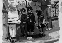 157.Ульянова Аня. Мы все были маленькими. 14 лет 3кл преподаватель Фокина О.В. 2007г