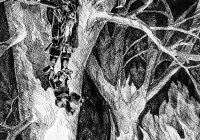 194.Старостина Маша. Д.Р.Р.Толкин «Хоббит, или Туда и обратно» илл. 15 лет 2хр преподаватель Фокина О.В. 2006г