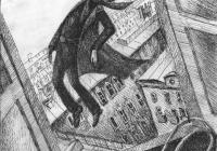 212.Хантурова Маша. Иллюстрация к стихотворению В.В. Маяковского. 13 лет 3кл преподаватель Фокина О.В. 2011г