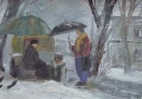 223.Шерстнева Катя. Ранний снег. 14 лет 2кл преподаватель Колесников В.Г. 2011г.
