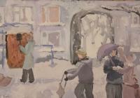 63.Логинова Катя. Теплая зима. 12 лет 1 кл преподаватель Колесников В.Г. 2010г.