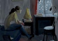 87.Миронова Лилия. Зимний вечер. 15 лет 1хр преподаватель Стариков А.А. 2014г.
